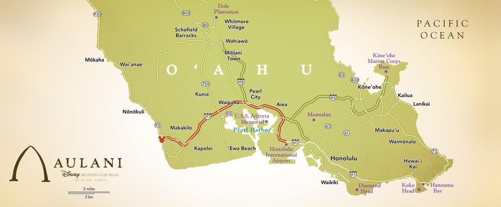 aulani map
