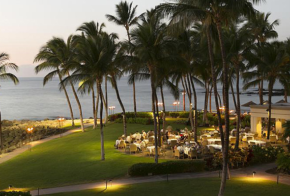 ハワイ ハワイ島ホテル 夕食