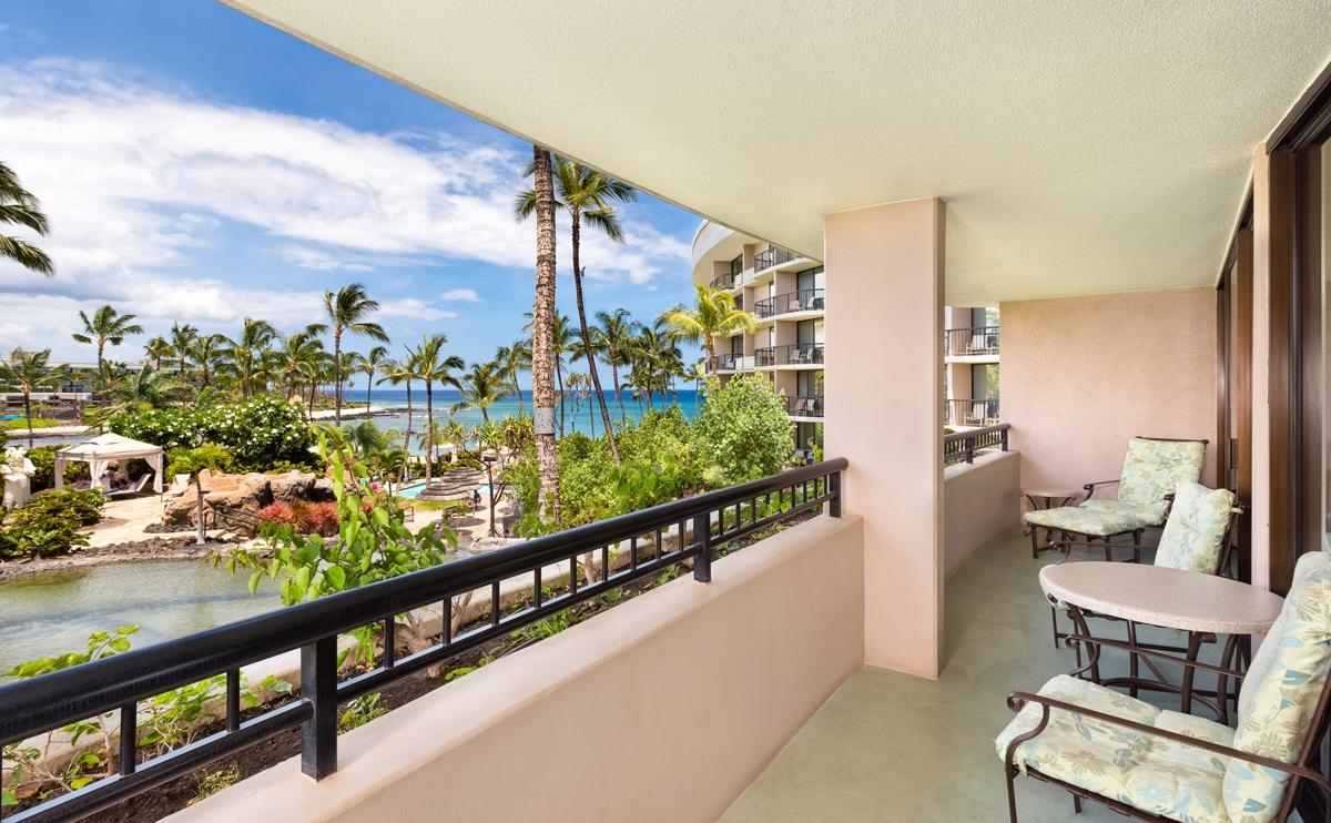ハワイ ヒルトンワイコロアビレッジ 部屋からの眺め