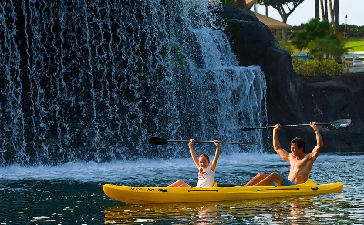 ハワイ ヒルトンワイコロアビレッジ 広大なプール