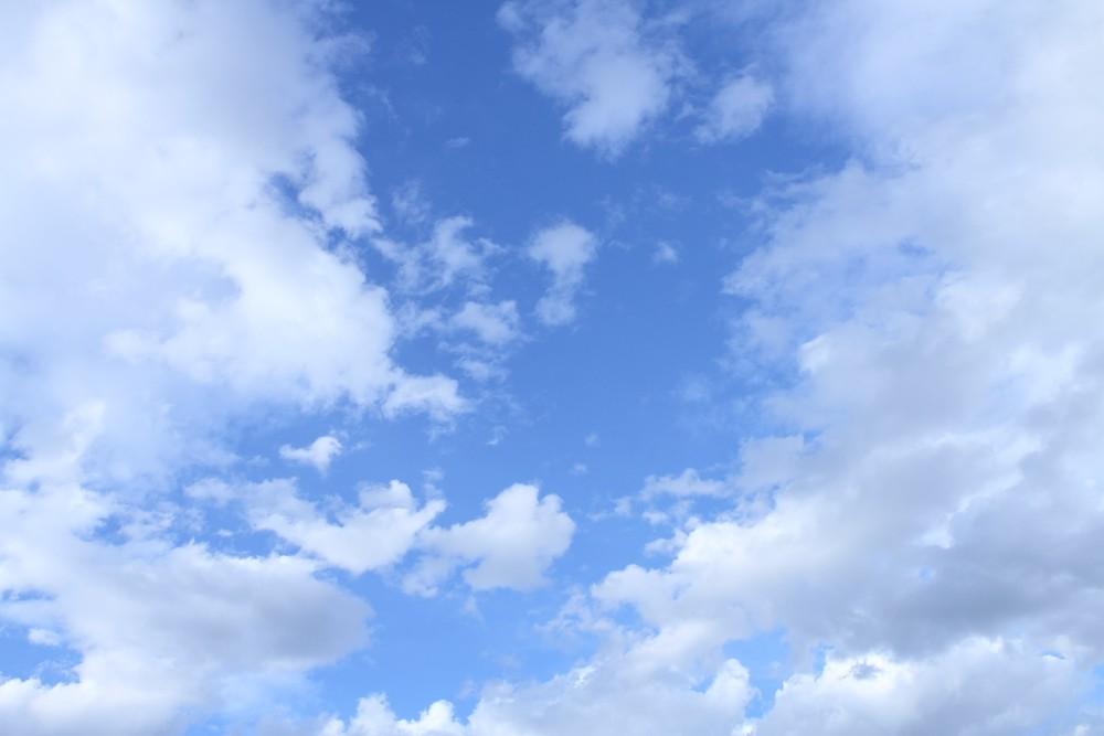 ホノルルの晴れた空