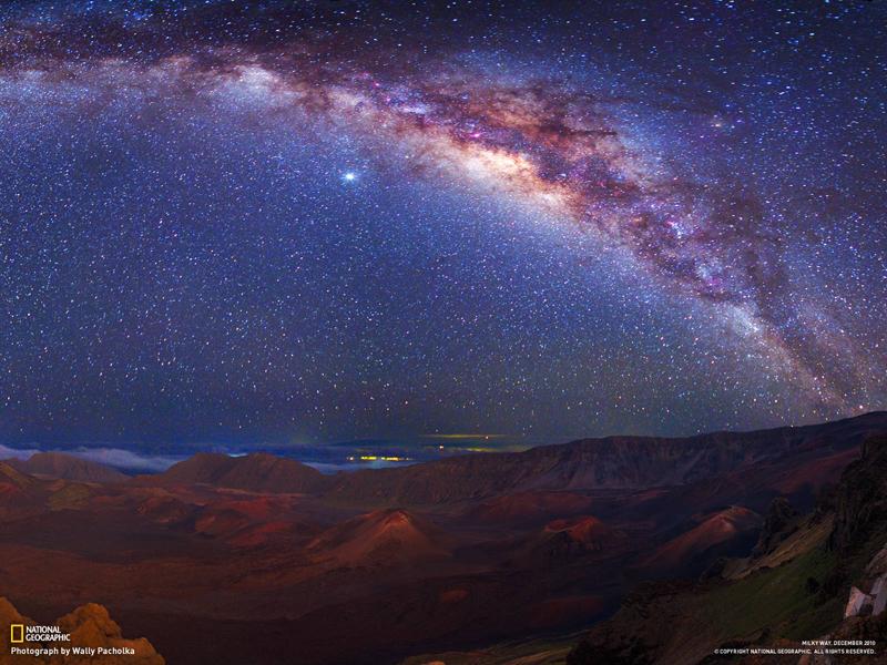 ハレアカラ山星空