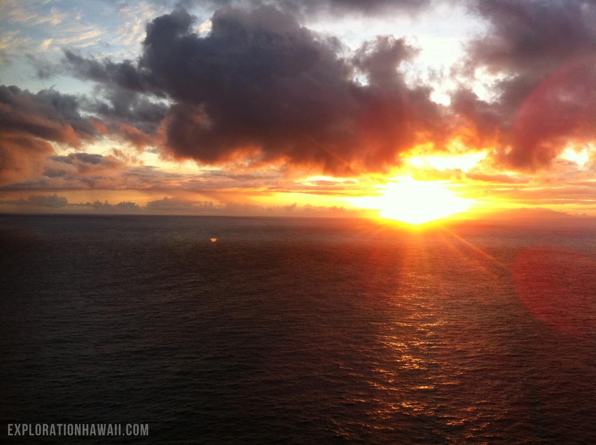 マカプウ岬の夕陽