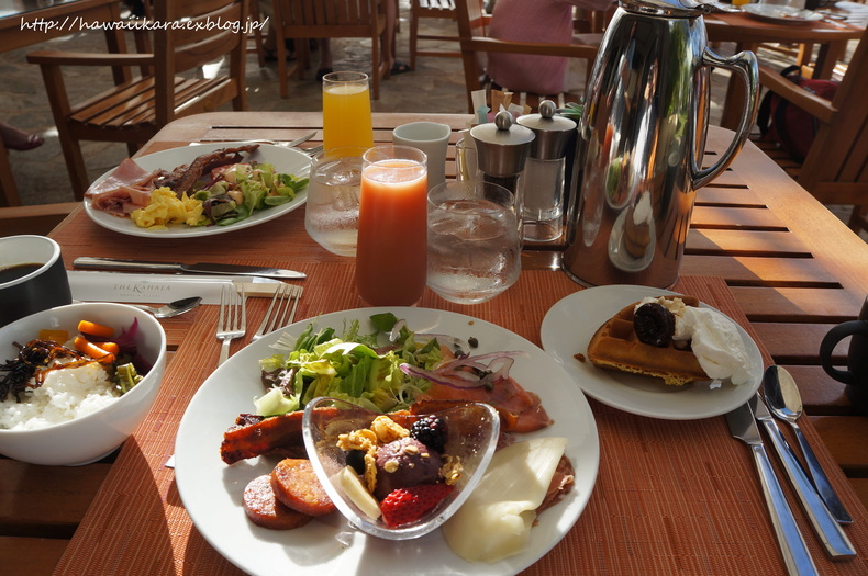 プルメリアの朝食例