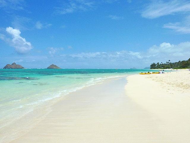ラニカイビーチの浜