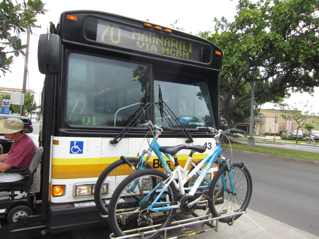自転車積載可能バス