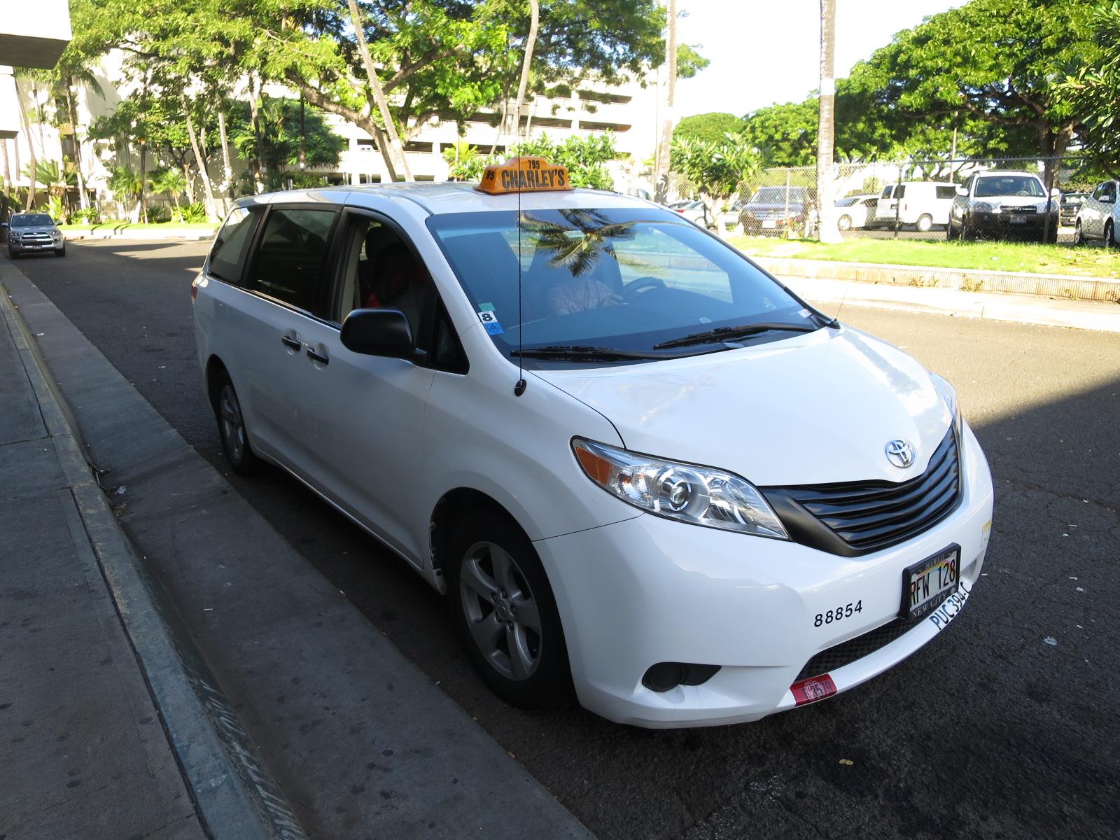 ハワイのタクシー