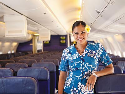 ハワイアン航空のCA