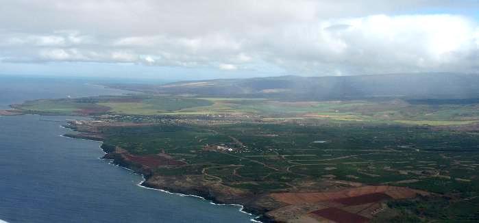 ニイハウ島を上空から