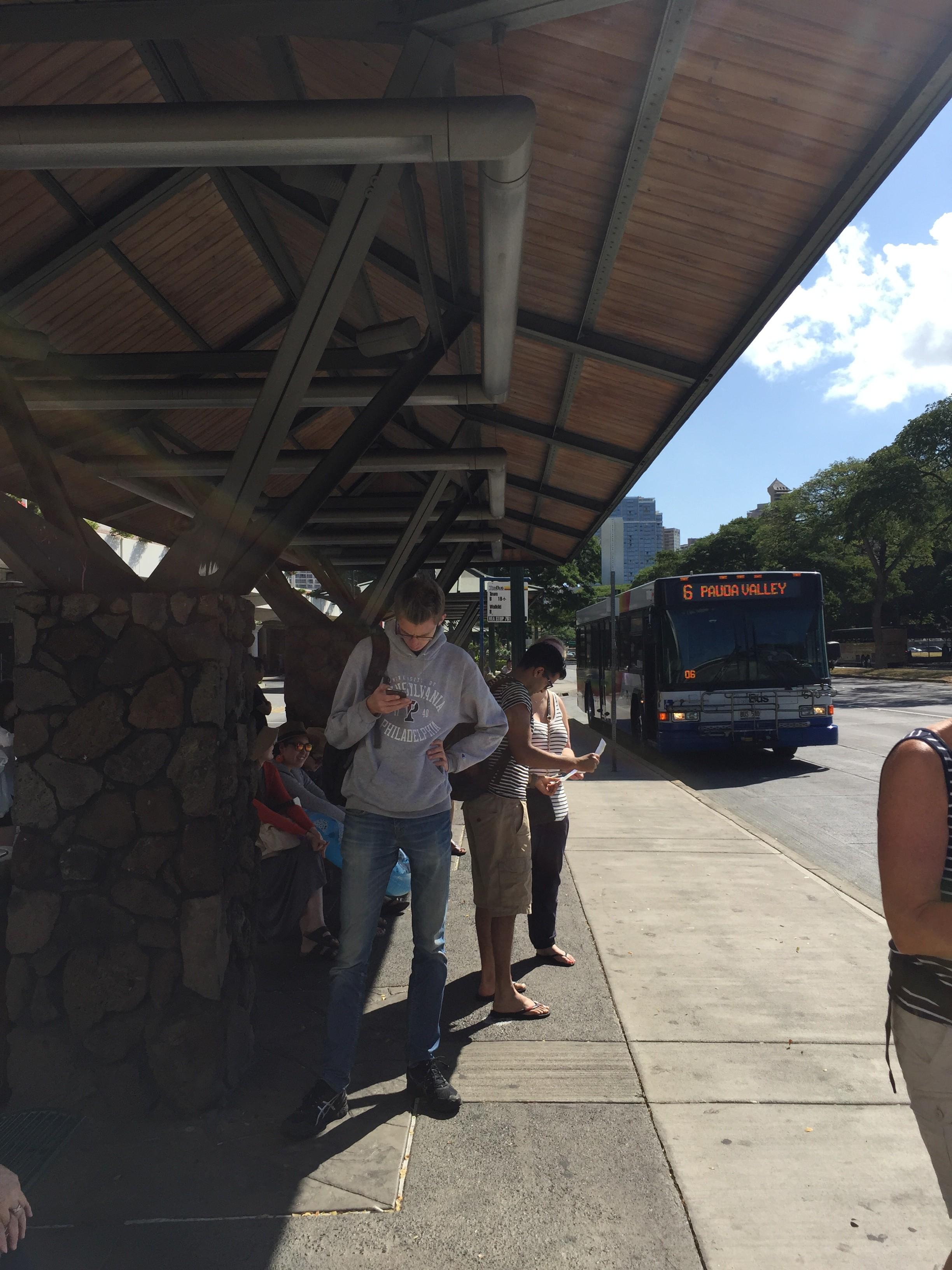 ハワイ カイルア アラモアナで乗り換え
