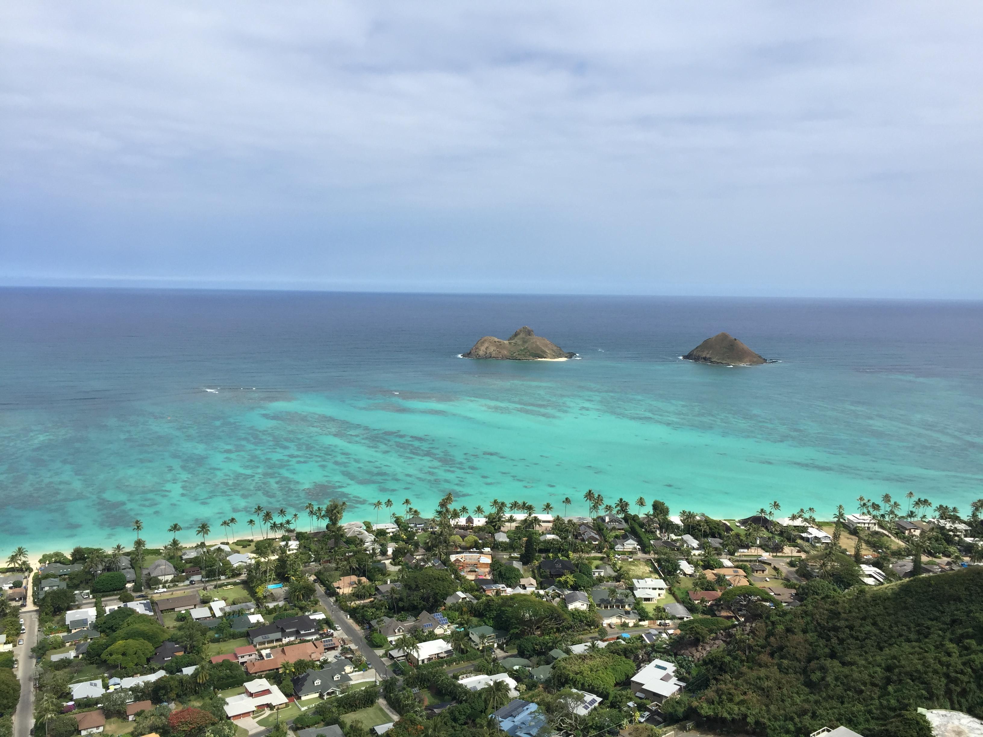 ハワイ カイルア 一番上の景色