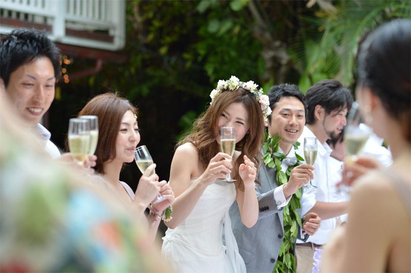 挙式後のパーティー