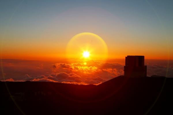 マウナケア山の夕陽