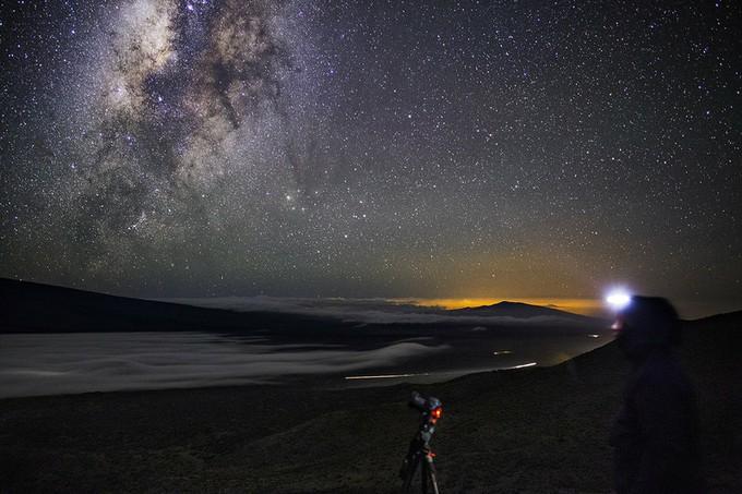 マウナケア山の星空