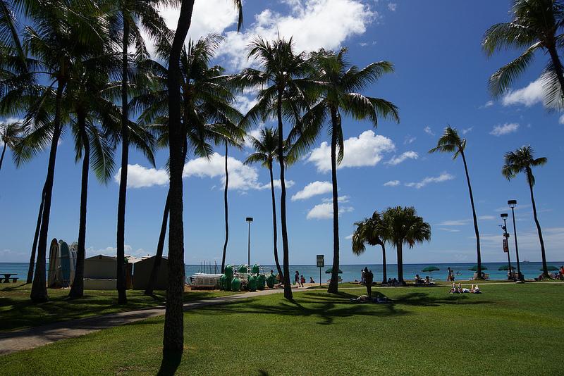 ハワイ 花火 フォートデルッシービーチパーク