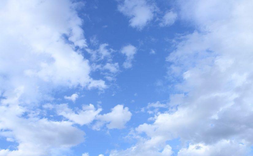 ハワイの晴れの空