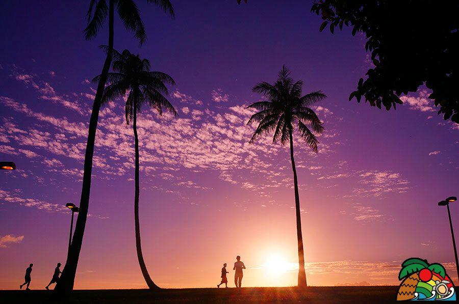 マジックアイランドの夕陽