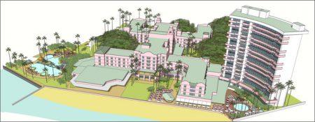 ロイヤルハワイアンホテルの図