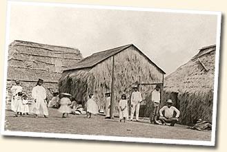 ニイハウ島の昔の街