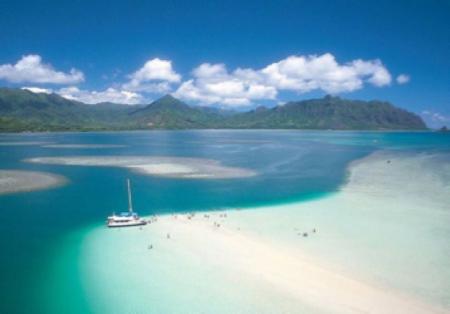 ハワイ オアフ島 アクティビティ ビーチサンドバー