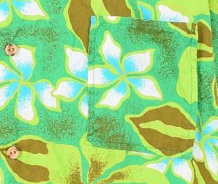 ハワイ ヴィンテージアロハシャツ 70年代胸ポケット
