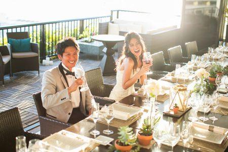 ハワイ ウェディングドレス レストランウェディング