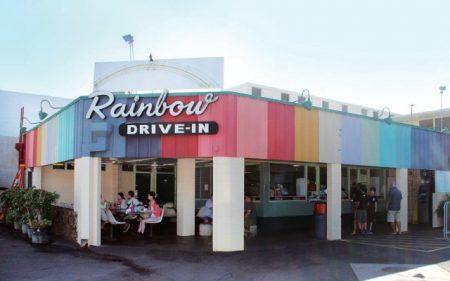 ハワイ ローカルフード店 レインボードライブイン
