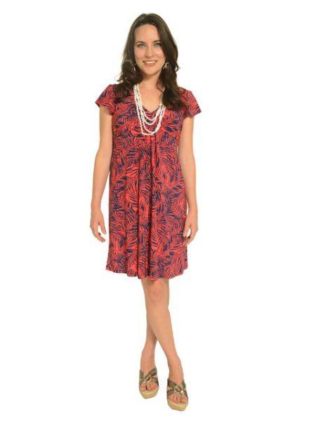 ハワイ イオラニ vネックショートニットドレス