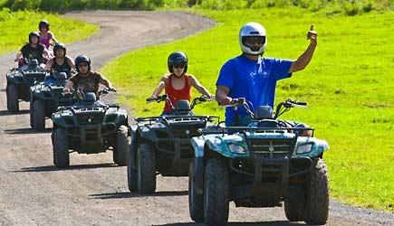 ハワイ クアロアランチアクティビティ 四輪バギー