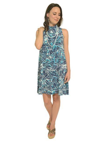 ハワイ イオラニ ハイネックショートニットドレス