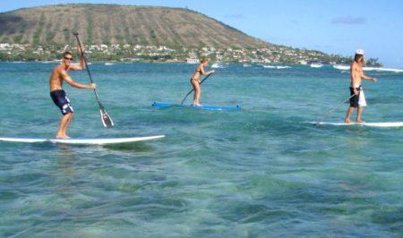 ハワイ マリンスポーツ スタントアップパドルサーフィン