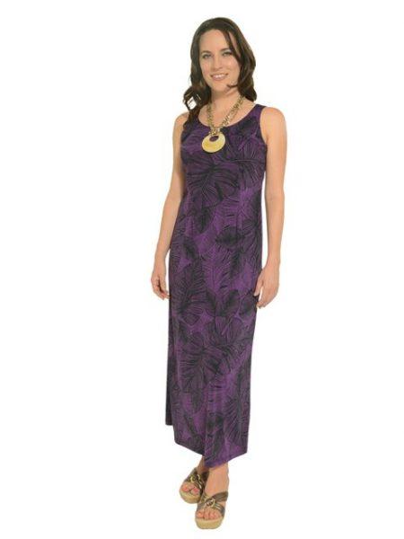 ハワイ イオラニ スリーブレスロングドレス