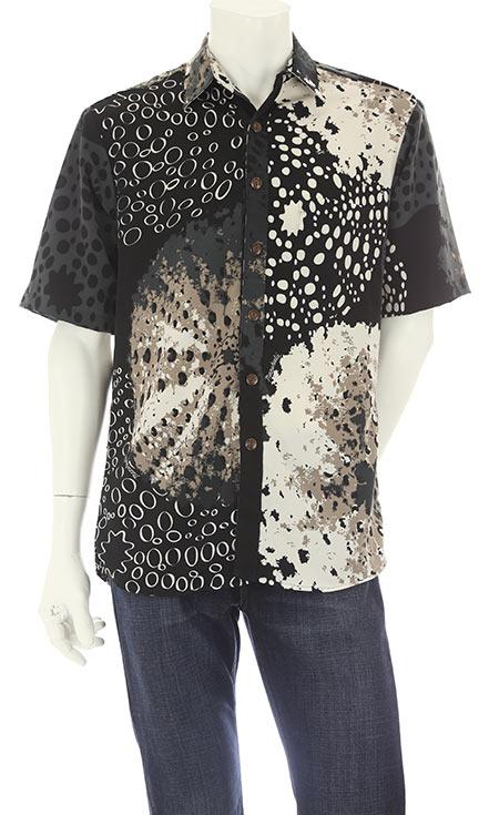 ハワイ アロハシャツ ボタンダウンスポーツアロハシャツ