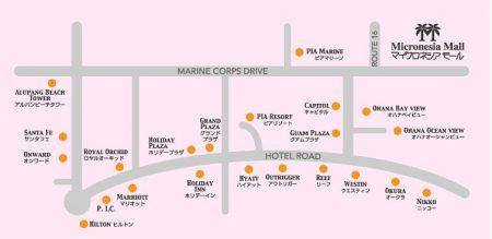グアム ショッピング 地図