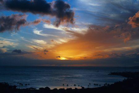 バリ島 雨季 雨あがりの景色