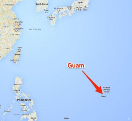 グアム 島 位置