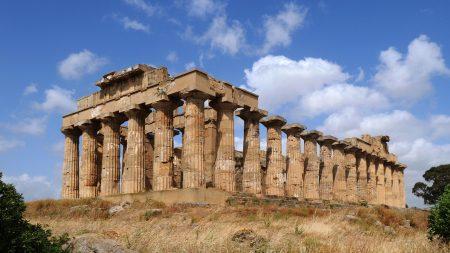 シチリア シチリア島 アグリジェントの遺跡