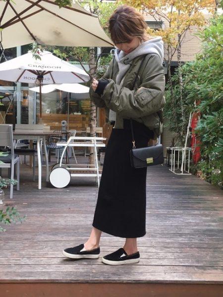 MA-1 コーデ スカート