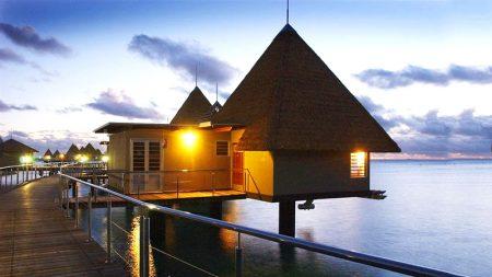 ニューカレドニア 水上コテージ