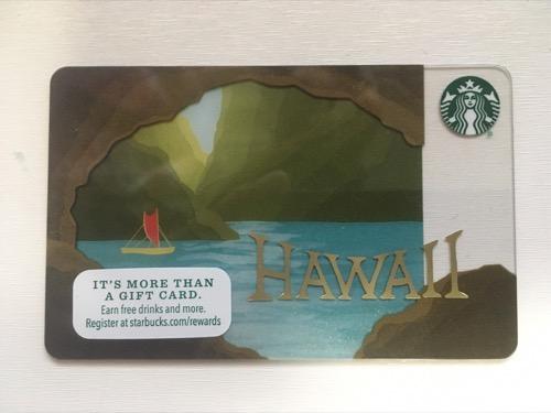 ハワイ限定スターバックスカード