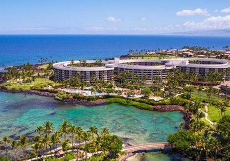 ハワイ ヒルトンワイコロアビ 海