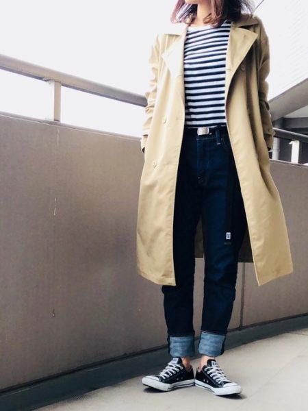 アパレル 秋ファッション スリムフィットデニム