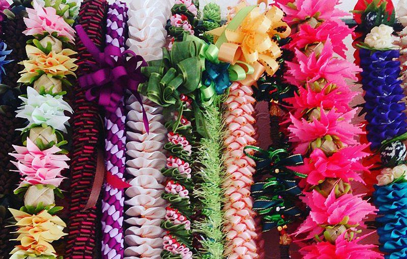 ハワイ リボンレイ 作り方