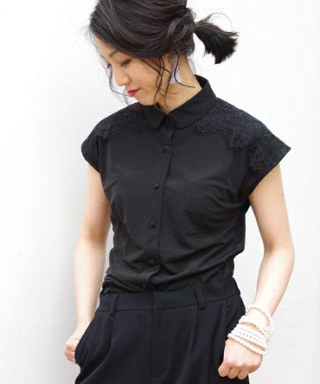 アパレル 黒シャツ 半袖シャツ