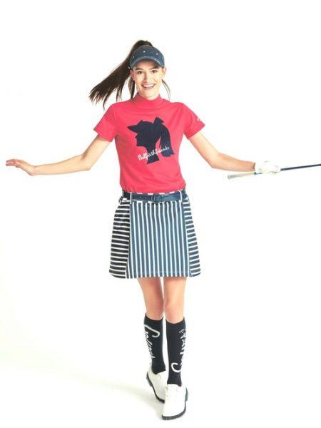 アパレル ゴルフ ボーダー柄のスカート