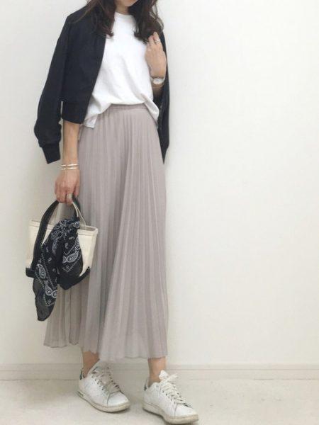 アパレル ma-1 プリーツスカート