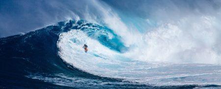 ノースショアのサーフィン