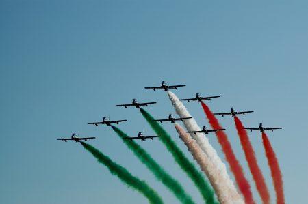 イタリア飛行機上空