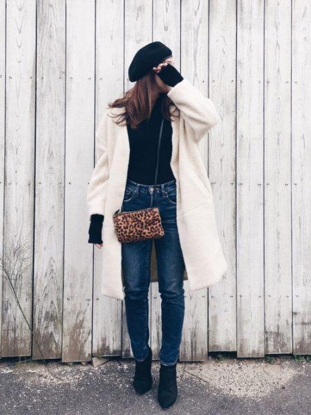 白 冬 ロングコート