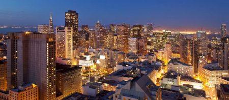 ヒルトンサンフランシスコユニオンスクエアからみた夜景